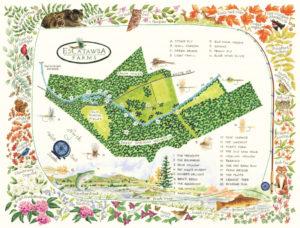 Escatawba Farms Fly Fishing Virginia Map web